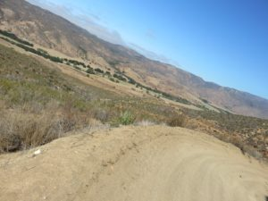 Looking back into Pamo Valley in the chaparral