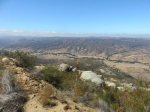Looking down into Pamo Valley