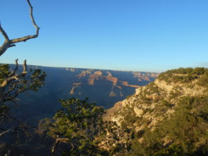 Lighting of the Canyon as the Sun set from near Yavapai Point