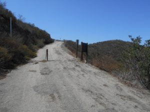 Gate near the end of the major paved section of the hike