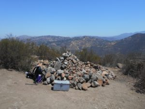 Interesting pile of rocks at the summit