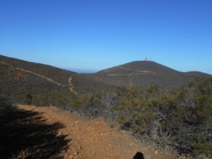 Nearing the end of the East Rim trail, viewing the Black Mountain summit