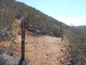 Convergence of the Paradise Trail, Rodriguez Peak Trail, and Canyon View Trail