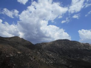 Early picture of the storm cloud starting to blow in; it got much bigger and darker as my hike continue
