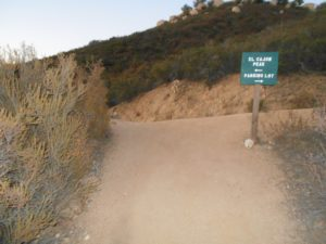 At the top of the switchbacks, meeting with the old miner's road