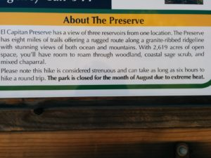 About the Preserve on one of the trail's few kiosks