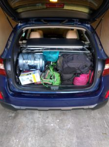 An early setup, with everything fitting in the trunkToday, everything fits in even looser!
