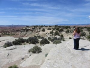My parents taking pictures at the San Rafael Swell