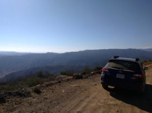 On the drive up the mountain! Awesome views!