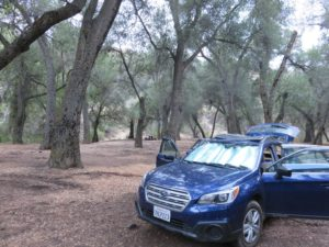 First spot in Los Padres National Forest