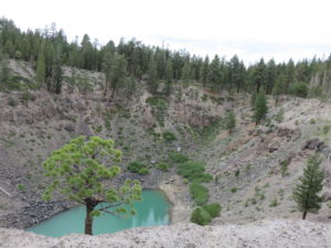 Looking down on the Southern Inyo Crater
