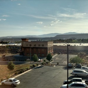 View from hotel room in St George, UT ; Picture taken by Dad!