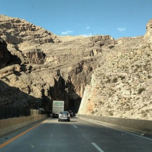 Entering the Virgin River Gorge area ; Picture taken by Dad!