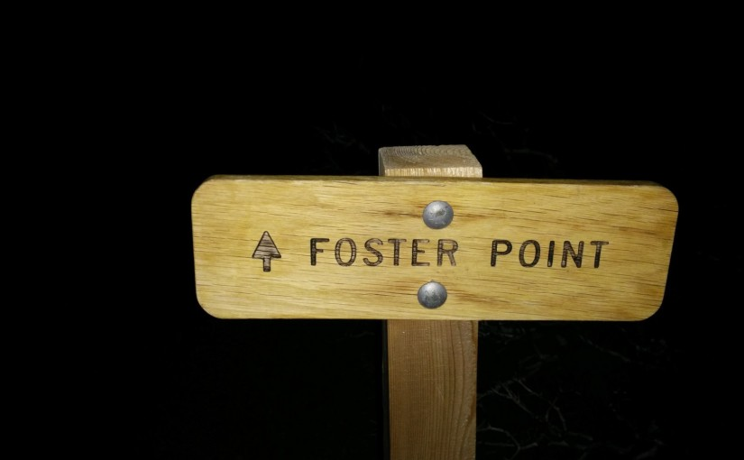Foster Point sign at nigh